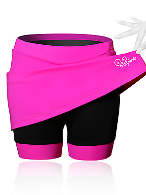 cheap Boys' Tops-21Grams Women's Cycling Skirt Bike Shorts / Skirt / Padded Shorts / Chamois Breathable, 3D Pad Solid Colored, Patchwork, Classic Spandex Black / Blue / Pink Advanced Mountain Cycling Semi-Form Fit
