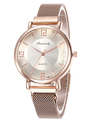 cheap Quartz Watches-Women's Quartz Watches Fashion Colorful Black Red Rose Gold Alloy Chinese Quartz Black Rose Gold Red Adorable 30 m 1 pc Analog One Year Battery Life
