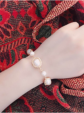 cheap Quartz Watches-Women's Freshwater Pearl Bead Bracelet Braided Weave Baroque Boho Pearl Bracelet Jewelry Gold For Party Daily Holiday Festival / Gold Plated