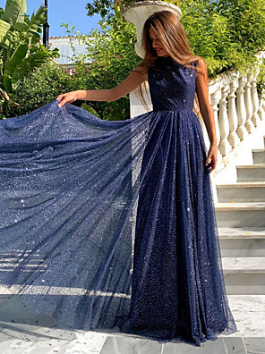 cheap Party Dresses-Women's Maxi Swing Dress - Solid Colored Navy Blue S M L XL