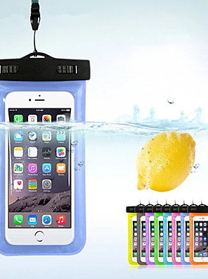 cheap vivoCase-Case For Apple / Samsung Galaxy / Huawei Universal Water Resistant Waterproof Pouch Solid Colored PVC