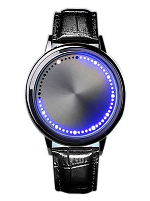 cheap Smart Watches-Men's Digital Watch Digital Leather Black LED Light Casual Watch Digital Casual Fashion - Black Silver
