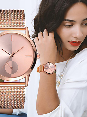 cheap Quartz Watches-Women's Quartz Watches Casual Fashion Black Silver Gold Alloy Chinese Quartz Black Rose Gold Gold New Design Casual Watch 1 pc Analog One Year Battery Life