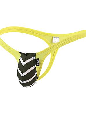 cheap Men's Exotic Underwear-Men's Basic G-string Underwear - Normal 1 Piece Low Waist Black White Yellow M L XL