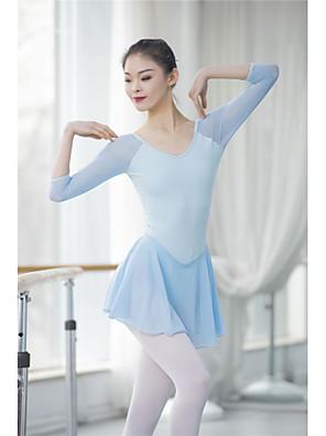 cheap Evening Dresses-Ballet Leotard / Onesie Split Joint Women's Training Performance 3/4 Length Sleeve High Nylon