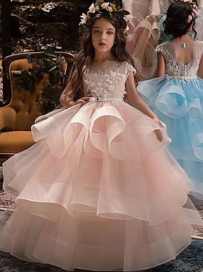 cheap Flower Girl Dresses-Kids Girls' Solid Colored Sleeveless Maxi Dress White