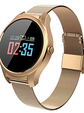 cheap Smart Watches-Smartwatch Digital Modern Style Sporty 30 m Water Resistant / Waterproof Heart Rate Monitor Bluetooth Digital Casual Outdoor - Black Gold Silver