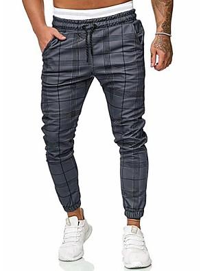 cheap Men's Pants & Shorts-Men's Basic / Street chic Chinos / wfh Sweatpants Pants - Solid Colored / Striped Gray US32 / UK32 / EU40 US34 / UK34 / EU42 US36 / UK36 / EU44