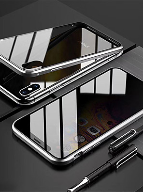 cheap iPhone Screen Protectors-Anti Peep Magnetic Case for iPhone 11 11Pro 11ProMax Privacy Case Double Sided Glass 360 Protection / Shockproof Flip Anti Peeping Case Magnetic Phone Case for iPhone X/XS XR XS Max 7 Plus/8 Plus 8/7