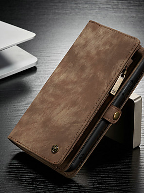 cheap vivoCase-CaseMe Case For Apple iPhone 11 / iPhone 11 Pro / iPhone 11 Pro Max Multifunction Magnetic Flip Wallet Phone Case Retro Leather Phone Cases with Card Holder