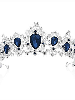 cheap Evening Dresses-Crystal / Alloy Tiaras with Crystal / Crystals 1 Piece Wedding / Special Occasion Headpiece