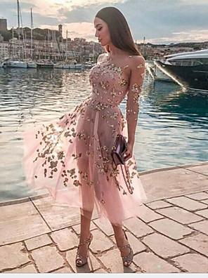 cheap Prom Dresses-Women's Shirt Dress - Sleeveless Solid Colored Halter Neck Basic Blushing Pink S M L XL