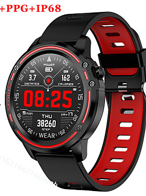 cheap Couple Watches-Couple's Smartwatch Digital Stylish Silicone Black / Red / Green 30 m Heart Rate Monitor Bluetooth Smart Analog Fashion - Black Green Red Two Years Battery Life / Stainless Steel