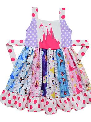 baratos Vestidos De Unicórnio-Infantil Para Meninas Estilo bonito Desenho Animado Vestido Rosa
