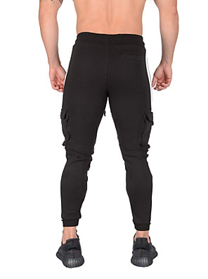cheap Men's Belt-Men's Sporty Slim Sweatpants Pants - Solid Colored Black & White, Patchwork Wine Army Green Light gray US32 / UK32 / EU40 US34 / UK34 / EU42 US36 / UK36 / EU44 / Elasticity