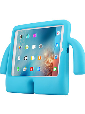 cheap iPad case-Case For Apple iPad Air / iPad 4/3/2 / iPad Air 2 Shockproof / with Stand Back Cover Solid Colored PC / Silica Gel