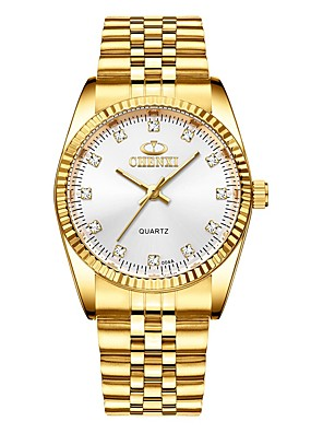 cheap Quartz Watches-CHENXI® Men's Dress Watch Quartz Formal Style Stylish Luxury Water Resistant / Waterproof Stainless Steel Gold Analog - Golden Golden+Black Golden+White One Year Battery Life / Noctilucent