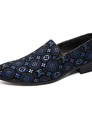 cheap Prom Dresses-Men's Dress Shoes Summer Classic / British Outdoor Office & Career Loafers & Slip-Ons Walking Shoes PU Non-slipping Wear Proof Blue / Brown / Black