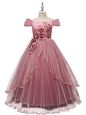 abordables Robes pour Filles-Enfants Fille Fleur Robe Rose Claire