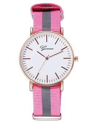cheap Quartz Watches-Women's Quartz Watches Outdoor Fashion Blue Red Grey Fabric Chinese Quartz Blushing Pink Yellow Blue Casual Watch Adorable 30 m 1 pc Analog One Year Battery Life