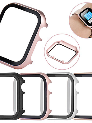 cheap Boys' Tops-All-inclusive Tempered Glass Film Protective Case For Apple Watch 40mm/44mm/38mm/42mm Metal Shell Frame For Apple Watch Series 6 SE 5 4 3 2 1