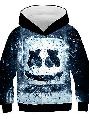 cheap Boys' Tops-Kids Boys' Active Street chic Print Print Long Sleeve Hoodie & Sweatshirt Black