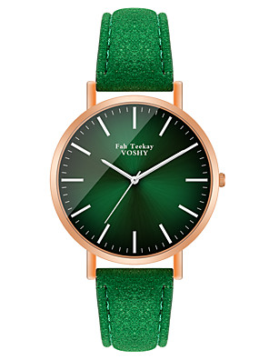 cheap Quartz Watches-Women's Quartz Watches Quartz Stylish Fashion Casual Watch PU Leather Green / Purple Analog - Purple Green One Year Battery Life / Jinli 377