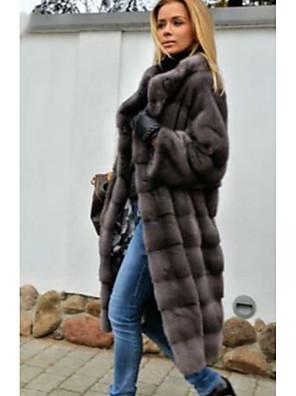 cheap Evening Dresses-Long Sleeve Coats / Jackets Rabbit Fur Wedding Women's Wrap With Fur