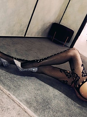 cheap Socks & Hosiery-Women's Thin Stockings - Sexy / Lace 30D Black One-Size