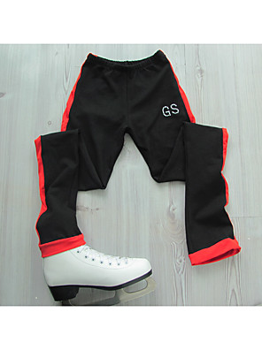 cheap Ice Skating Dresses , Pants & Jackets-Figure Skating Pants Women's Girls' Ice Skating Pants / Trousers Black / Red Orange Blue Stretchy Training Competition Skating Wear Classic Figure Skating