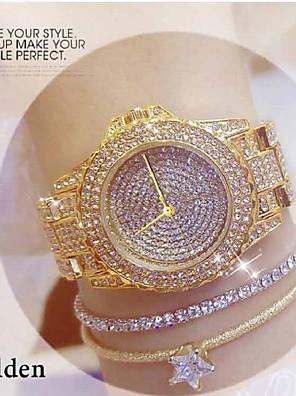 cheap Quartz Watches-Women's Quartz Watches Fashion Silver Gold Rose Gold Alloy Quartz Rose Gold Golden+Silver Gold Casual Watch Analog