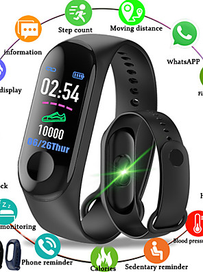 cheap Sport Watches-M3 Smart Wristband BT Fitness Tracker Support Notify/Heart Rate Monitor Waterproof Sport Bluetooth Smartwatch Compatible IOS/Android Phones