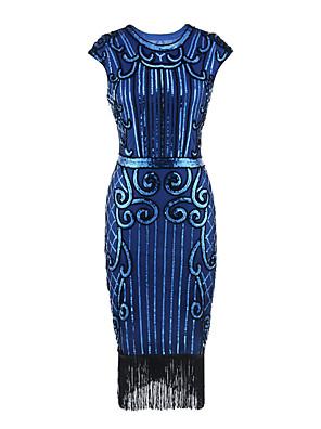 cheap Historical & Vintage Costumes-Dance Costumes Dress Tassel Paillette Women's Party Performance Sleeveless Terylene Polyester Taffeta