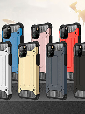 cheap iPhone Cases-Shockproof Cover Phone Case For iphone 11 Pro / iphone 11 / iphone 11 Pro Max Rubber Armor Hybrid PC Hard Cover For iphone 11 Silicone TPU Case