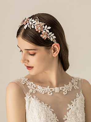 cheap Special Occasion Dresses-Alloy Headbands / Headdress with Floral / Flower / Metal 1pc Wedding / Party / Evening Headpiece