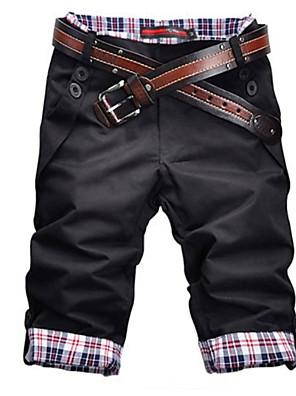 cheap Men's Pants & Shorts-Men's Basic Shorts Bermuda shorts Pants Solid Colored Black Khaki Gray US32 / UK32 / EU40 US34 / UK34 / EU42 US38 / UK38 / EU46