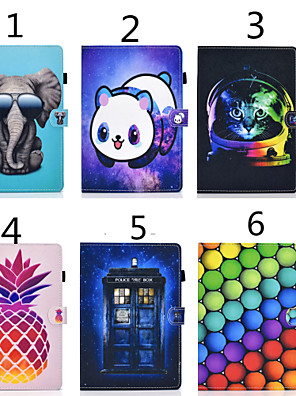 cheap iPad case-Case For Apple iPad Air / iPad 4/3/2 / iPad Mini 3/2/1 Card Holder / with Stand / Magnetic Full Body Cases Cat / Animal PU Leather