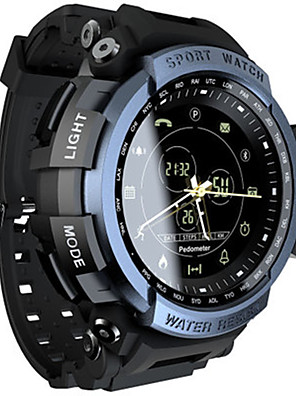 cheap Smart Watches-Men's Smartwatch Digital Sporty Black / Clover 30 m Water Resistant / Waterproof Bluetooth Smart Analog Casual - Black Green Blue One Year Battery Life