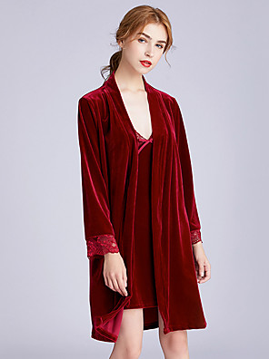 cheap Cocktail Dresses-Normal POLY Robes Gender Neutral Solid Colored Wedding Wedding