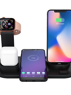 cheap Wireless Chargers-3 In 1 Wireless Charger Apple Airpods Charger Apple Watch Stand Fast Multiple Device Wireless Charging Station Compatible With Iphone 11 Pro Max/X / Xr / Xs Max / 8/7/6 / Samsung /Huawei