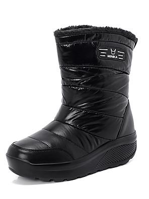 cheap Casual Dresses-Women's Boots Flat Heel Round Toe PU Winter Black
