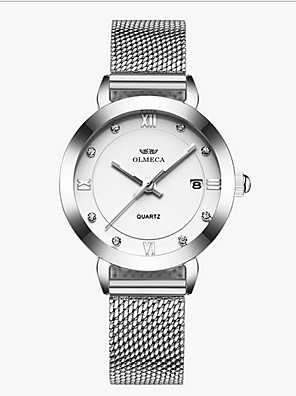 cheap Watches-Women's Steel Band Watches Quartz Water Resistant / Waterproof Analog Casual