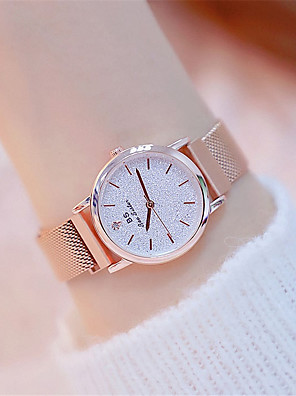 cheap Quartz Watches-Women's Quartz Watches Quartz Formal Style Luxury Water Resistant / Waterproof Stainless Steel Rose Gold Analog - White Black Blue One Year Battery Life