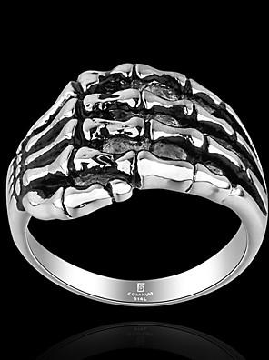 cheap Sport Watches-Men's Band Ring Ring 1pc Black Titanium Steel Geometric Vintage Punk Rock Halloween Street Jewelry Vintage Style Precious Cool