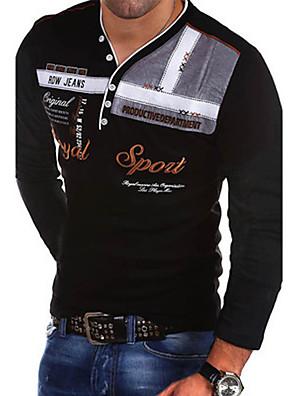 cheap Men's Pants & Shorts-Men's Graphic Letter Slim T-shirt V Neck White / Black / Red / Royal Blue / Light Blue