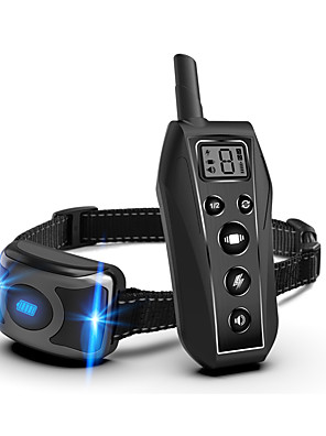 cheap Sport Watches-Dog Training Anti Bark Collar Shock Collar Adjustable Length Remote Controlled Sound Dog 500M Range Waterproof Rechargeable Resin Nylon ABS+PC Clickers Behaviour Aids Obedience Training For Pets