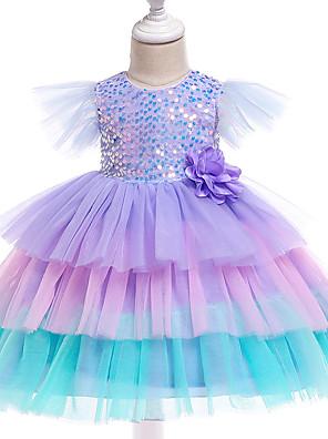cheap Girls' Dresses-Baby Girls' Basic Rainbow Sleeveless Dress Purple