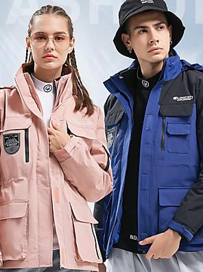 cheap Women's Hiking Jackets-Women's Hiking Down Jacket Hiking 3-in-1 Jackets Winter Outdoor Patchwork Waterproof Windproof Warm Soft Jacket Down Jacket Top Camping / Hiking Hunting Fishing White / Black / Pink / Orange / Dark