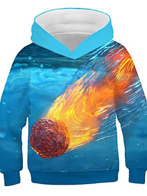 cheap Romantic Lace Dresses-Kids Boys' Basic Print 3D Long Sleeve Hoodie & Sweatshirt Rainbow