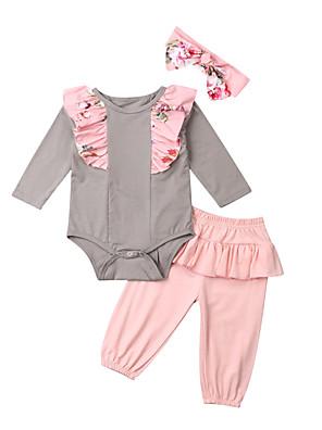 povoljno Kompletići za bebe-Dijete Djevojčice Aktivan Kolaž Kolaž Dugih rukava Duga Dug Komplet odjeće